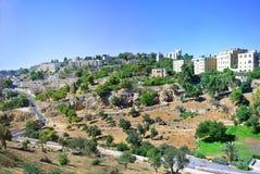 Τακτοποιήσεις στον τρόπο στην Ιερουσαλήμ θερινό ηλιόλουστο ημερησίως στοκ φωτογραφία με δικαίωμα ελεύθερης χρήσης