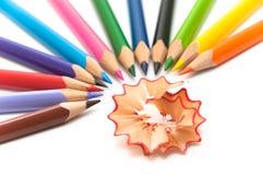 τακτοποιημένα χρωματισμένα κύκλος μολύβια ημι Στοκ Εικόνα