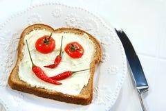 τακτοποιημένο smiley τροφίμων π&r Στοκ φωτογραφία με δικαίωμα ελεύθερης χρήσης