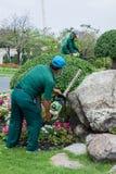 Τακτοποιώντας εγκαταστάσεις κηπουρών στοκ φωτογραφίες