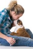Τακτοποιώντας καρφιά σκυλιών Στοκ εικόνα με δικαίωμα ελεύθερης χρήσης