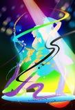 Ταλάντευση τεχνών χορού και νύχτα κομμάτων διανυσματική απεικόνιση