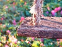 Ταλάντευση φιαγμένη από ξύλο Στοκ Εικόνα