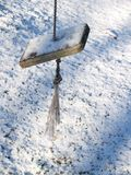 ταλάντευση χιονιού ανεμ&omi Στοκ Εικόνες