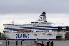 Ταλίν, Εσθονία, στις 24 Μαΐου 2017: σκάφος στο λιμένα της πόλης στοκ φωτογραφίες με δικαίωμα ελεύθερης χρήσης