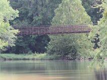 Ταλαντεμένος γέφυρα Στοκ Φωτογραφίες