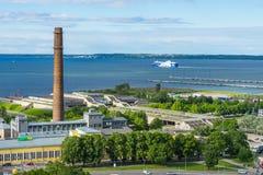 ΤΑΛΙΝ, ΕΣΘΟΝΙΑ - 05 07 2017 εναέρια άποψη του Ταλίν σε ένα beauti Στοκ εικόνες με δικαίωμα ελεύθερης χρήσης