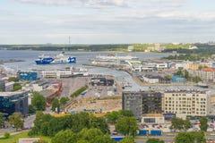 ΤΑΛΙΝ, ΕΣΘΟΝΙΑ - 05 07 2017 εναέρια άποψη του Ταλίν σε ένα beauti Στοκ φωτογραφία με δικαίωμα ελεύθερης χρήσης