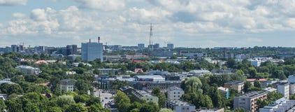 ΤΑΛΙΝ, ΕΣΘΟΝΙΑ 21 07 2017 φυσικό θερινό πανόραμα της πόλης Τ Στοκ Εικόνα