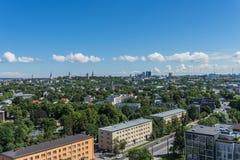 ΤΑΛΙΝ, ΕΣΘΟΝΙΑ 21 07 2017 φυσικό θερινό πανόραμα της πόλης Τ Στοκ Φωτογραφία