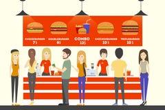 Ταμίας γρήγορου φαγητού ελεύθερη απεικόνιση δικαιώματος
