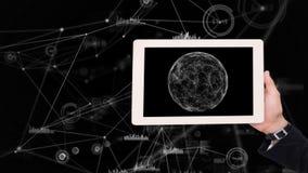 Ταμπλέτα που παρουσιάζει φεγγάρι απόθεμα βίντεο
