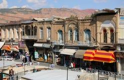 ΤΑΜΠΡΙΖ, 27,2018 ΙΡΆΝ-ΣΕΠΤΕΜΒΡΙΟΥ: Άποψη του Ταμπρίζ μεγάλο Bazaar στοκ εικόνα