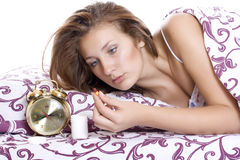 Ταμπλέτα για την αϋπνία Στοκ εικόνες με δικαίωμα ελεύθερης χρήσης