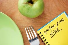 Ταμπλέτα με την ελεύθερη διατροφή γλουτένης στοκ εικόνες