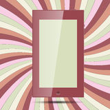 Ταμπλέτα σε χρωματισμένο χαρτί 2 Στοκ Εικόνες