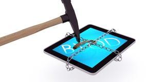 Ταμπλέτα BYOD που αποδεσμεύεται Στοκ εικόνα με δικαίωμα ελεύθερης χρήσης