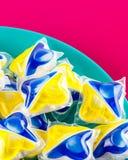Ταμπλέτες πλυντηρίων πιάτων Στοκ Φωτογραφία