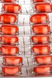 Ταμπλέτες στην πλαστική συσκευασία Στοκ Εικόνες