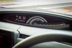 Ταμπλό της Toyota Previa 2016 Στοκ εικόνα με δικαίωμα ελεύθερης χρήσης