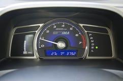 Ταμπλό του υβριδικού αυτοκινήτου Στοκ Εικόνες
