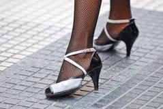 τανγκό παπουτσιών Στοκ φωτογραφίες με δικαίωμα ελεύθερης χρήσης