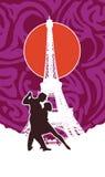 Τανγκό στο Παρίσι απεικόνιση αποθεμάτων