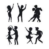 Τανγκό χορού ζεύγους, ανδρών και γυναικών, συστροφή, ρομαντικός, χορός κτυπήματος διανυσματική απεικόνιση