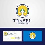 Ταξίδι Άγιος Vincent και δημιουργικό λογότυπο σημαιών κύκλων των Γρεναδινών ελεύθερη απεικόνιση δικαιώματος