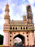 Ταξίδι ή δημόσια εξέταση Charminar - Hyderabad, Ινδία στοκ εικόνα