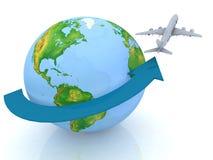 ταξίδι αεροπλάνων απεικόνιση αποθεμάτων