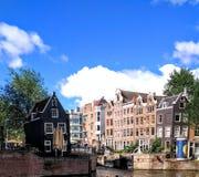 Ταξίδι αρχιτεκτονικής καναλιών του Άμστερνταμ Στοκ Εικόνα
