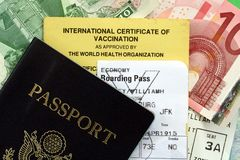 ταξίδι διαβατηρίων εγγράφ&ome Στοκ φωτογραφία με δικαίωμα ελεύθερης χρήσης
