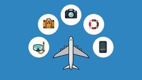 Ταξίδι και ζωτικότητα διακοπών HD ελεύθερη απεικόνιση δικαιώματος