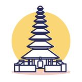 Ταξίδι και προορισμός Pura Ulun ελεύθερη απεικόνιση δικαιώματος