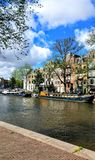 Ταξίδι καναλιών του Άμστερνταμ Architektur Στοκ Φωτογραφία