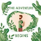 Ταξίδι περιπέτειας διακοπές Τουρισμός στη φύση Έννοια ελεύθερη απεικόνιση δικαιώματος