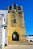 Ταξίδι Πορτογαλία, ιστορικά κτήρια Faro, μεσαιωνική αρχιτεκτονική Στοκ Εικόνα