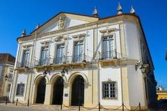 Ταξίδι Πορτογαλία, ιστορικά κτήρια Faro, στο κέντρο της πόλης περιοχή Στοκ εικόνες με δικαίωμα ελεύθερης χρήσης