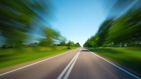 Ταξίδι σε έναν αγροτικό δρόμο, χρόνος-σφάλμα απόθεμα βίντεο