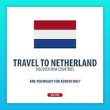 Ταξίδι σε Netherland Ανακαλύψτε και εξερευνήστε τις νέες χώρες Ταξίδι περιπέτειας Στοκ εικόνες με δικαίωμα ελεύθερης χρήσης