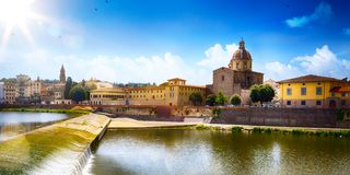 Ταξίδι στην Ευρώπη  ρομαντική άποψη στη Φλωρεντία Ιταλία Τοσκάνη  Παλαιός Στοκ Φωτογραφία
