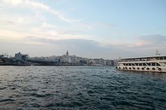 Ταξίδι στην Τουρκία - άποψη Galata Karakoy στοκ εικόνα