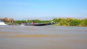 Ταξίδι στη λίμνη Inle, το Μιανμάρ απόθεμα βίντεο