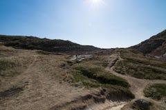 Ταξίδι τοπίου Badlands Αλμπέρτα Drumheller Στοκ εικόνα με δικαίωμα ελεύθερης χρήσης