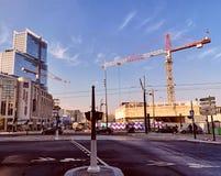 Ταξίδι τοπίων έργου υπό κατασκευή του Παρισιού στοκ εικόνα με δικαίωμα ελεύθερης χρήσης
