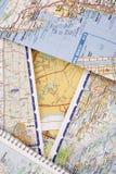 ταξίδι χαρτών Στοκ φωτογραφίες με δικαίωμα ελεύθερης χρήσης