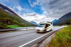 Ταξίδι rv, ταξίδι οικογενειακών διακοπών διακοπών στο motorhome Στοκ φωτογραφίες με δικαίωμα ελεύθερης χρήσης