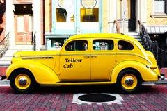 ταξί αμαξιών κίτρινο Στοκ Εικόνες