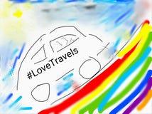 Ταξίδια αγάπης στοκ εικόνα με δικαίωμα ελεύθερης χρήσης
